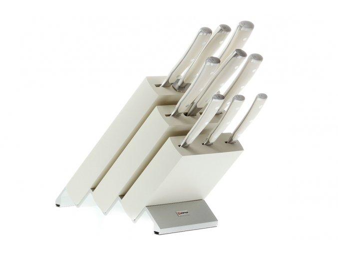 Blok s noži Wüsthof CLASSIC IKON Creme 9 dílů, bílý