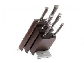Blok s noži Wüsthof IKON 6 dílů, Hnědý