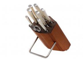 Blok s noži Wüsthof CLASSIC IKON créme, 8 dílů