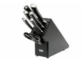 Blok na nože Wüsthof Classic Ikon, tmavý, 7 dílů