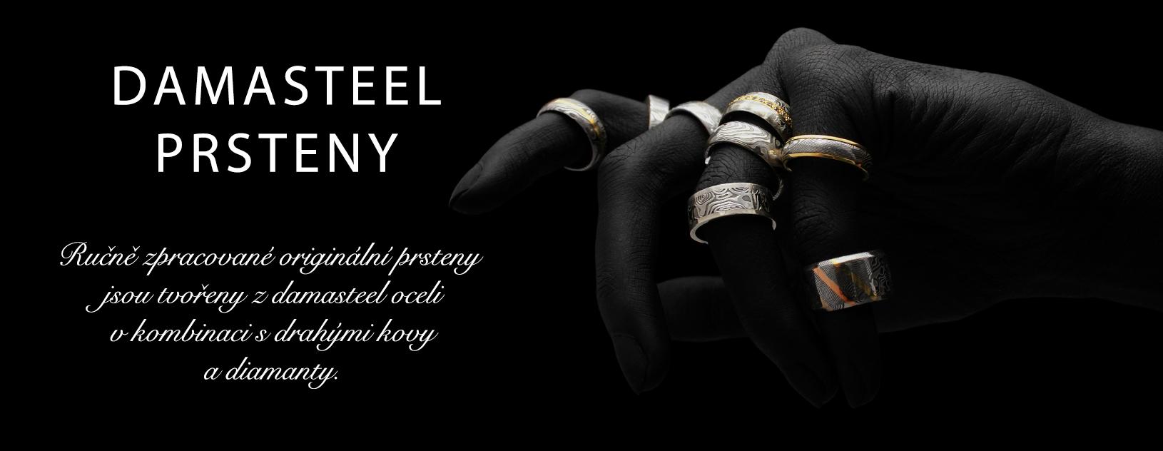 damasteel kované prsteny