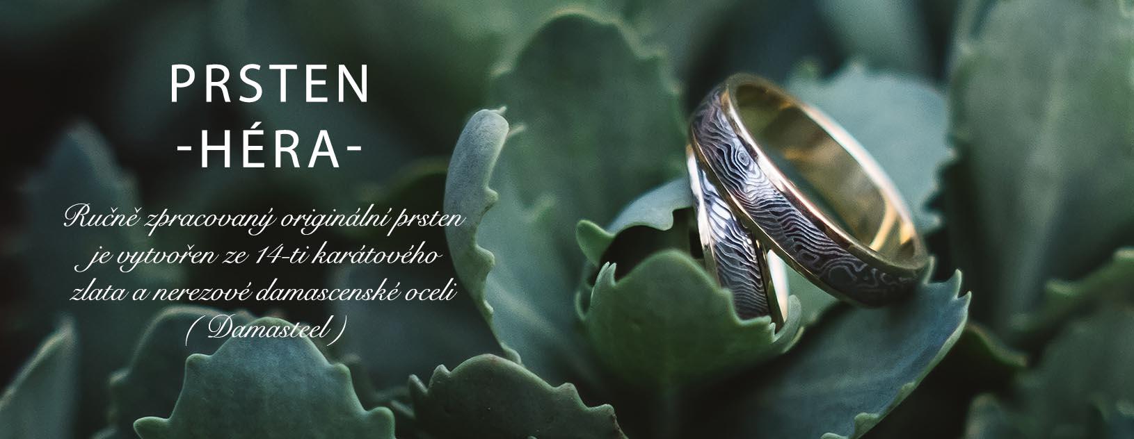 kované prsteny damasteel
