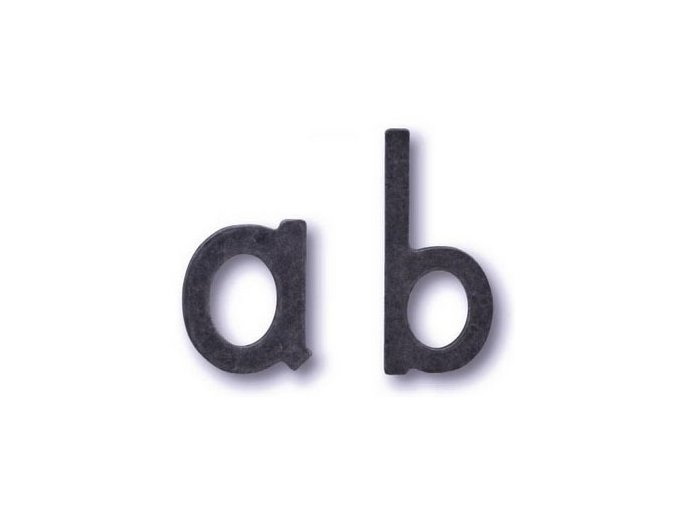 Kované písmeno COBRA (a-d)