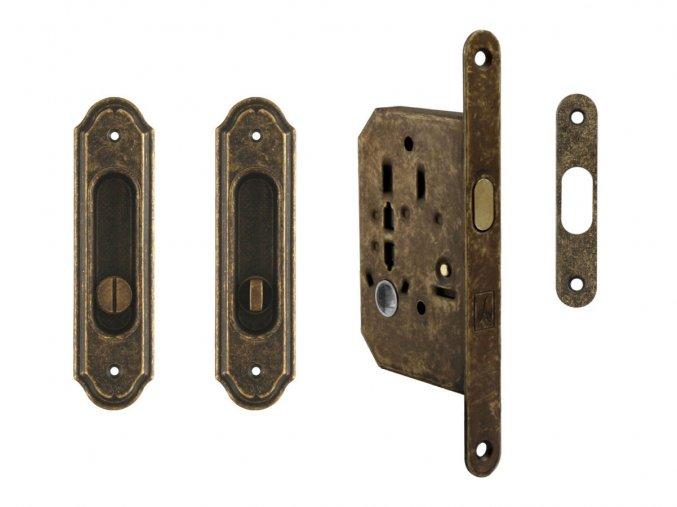 Set na posuvné dveře MP WC OBA (rustikální)