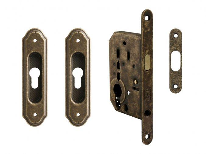Set na posuvné dveře MP PZ/S OBA (rustikální)