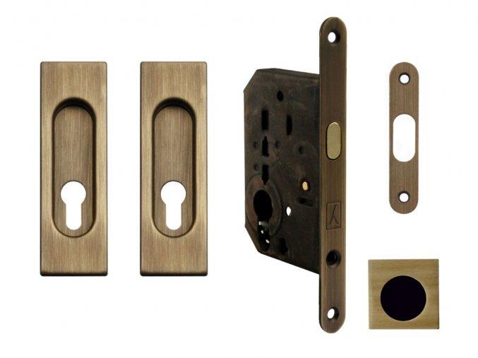 Set na posuvné dveře MP PZ/D OGS (hranatý)