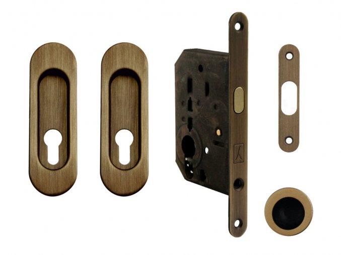 Set na posuvné dveře MP PZ/D OGS (oválný)