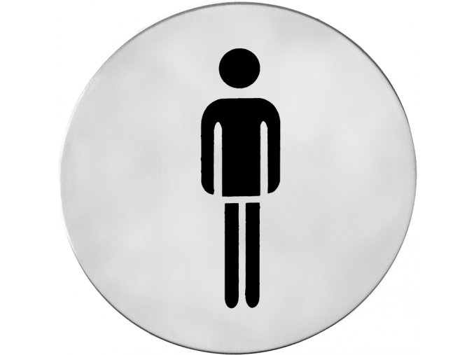 Piktogram ACT Páni samolepící K (nerez)