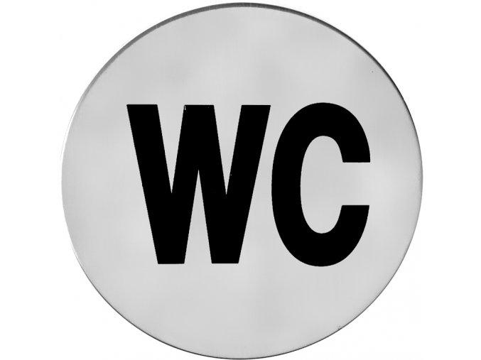 Piktogram ACT WC samolepící K (nerez)