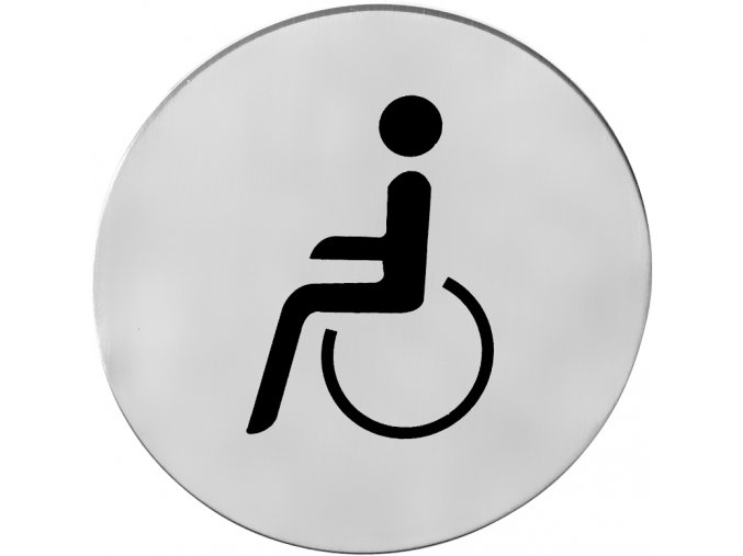 Piktogram ACT Tělesně postižení K samolepící (nerez)