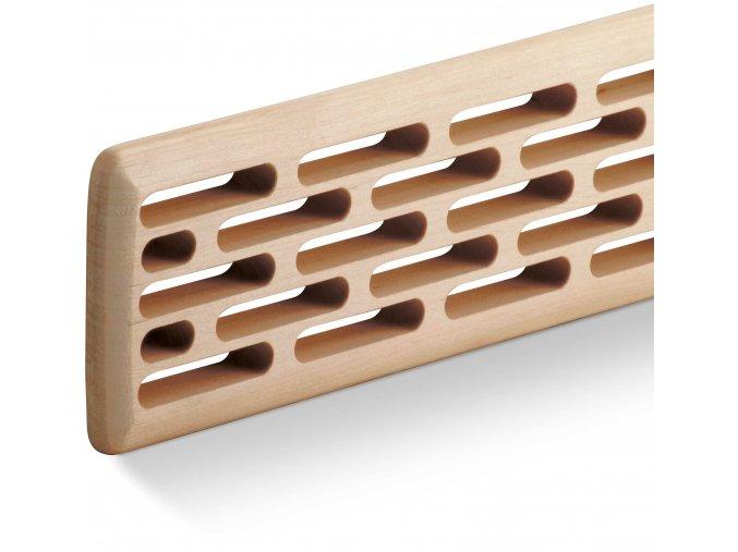 Větrací mřížka ACT Dřevěná frézovaná (cik cak)