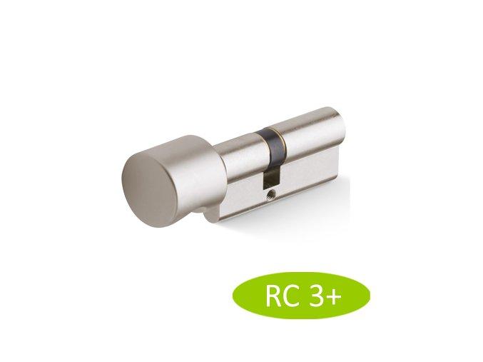 Bezpečnostní vložka ACT WILKA RC3+ (nikl) s knoflíkem
