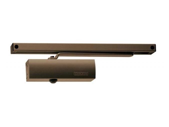 Zavírač dveří s kluznou lištou GEZE TS 1500 G (hnědý)