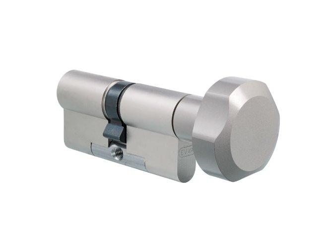 EVVA bezpečnostní cylindrická vložka MCS s knoflíkem (RC 4)