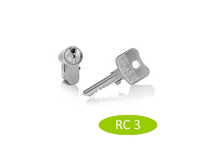 ACT bezpečnostní vložka WILKA RC3 55/65 (nikl) - ROZBALENO !!