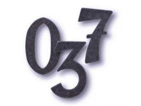 Cobra Číslice a písmena kovaná