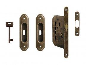 Set na posuvné dveře MP BB/S OBA (rustikální)