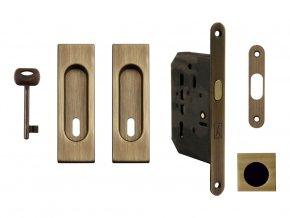 Set na posuvné dveře MP BB/D OGS (hranatý)