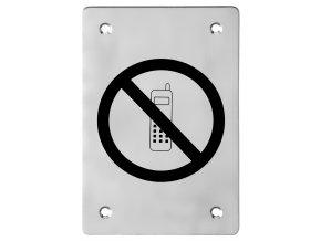 Piktogram ACT Zákaz telefonování HR (nerez)