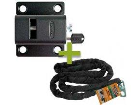 Uzamykatelný mechanismus TOKOZ X SAFETY BOX IV PRO 400 s řetězem