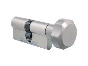 EVVA bezpečnostní cylindrická vložka 3KS Plus s knoflíkem (RC 4)