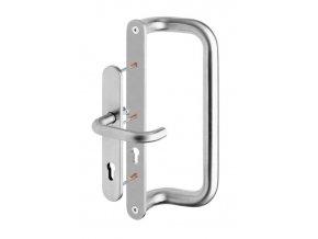 ROSTEX dveřní madlo G se štítem a klikou jednostranné