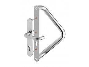 ROSTEX dveřní madlo V se štítem a klikou jednostranné