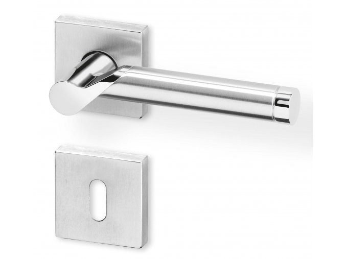 ACT dveřní kování DIJON R HR PK (chrom/nerez)
