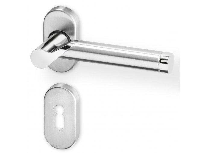 ACT dveřní kování DIJON R OV PK (chrom/nerez)