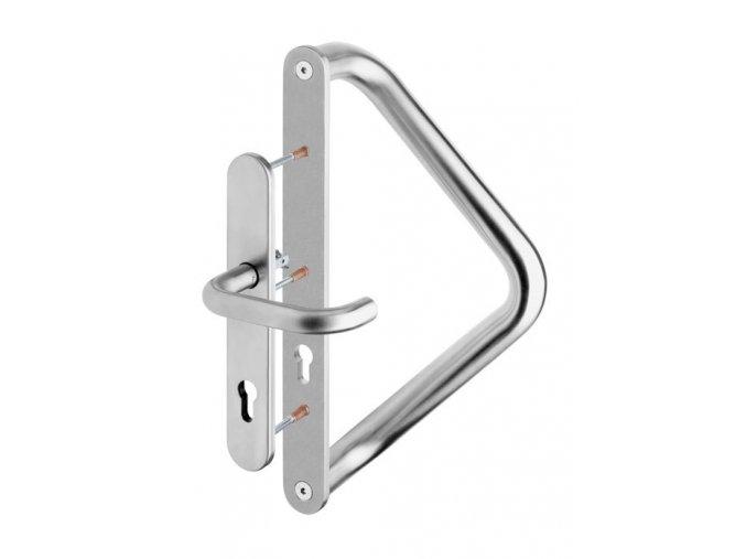ROSTEX Madlo dveřní trubkové V s krytem a s klikou se štítem