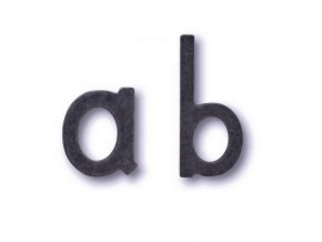 Cobra písmena na dveře (kovaná)