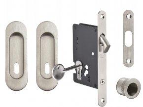 JNF Set pro posuvné dveře BB/D oválný (nerez)