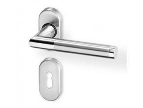 ACT dveřní kování LUKA R OV PK (chrom/nerez)