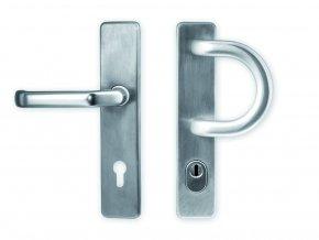 Bezpečnostní kování MONACO - klika/madlo oblé, široký štít s překrytím FAB