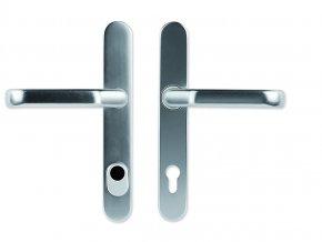 Bezpečnostní kování NEPTUN - klika/klika, úzký štít s překrytím FAB