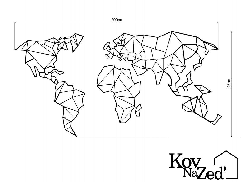 mapa derovana 202x102cm Model