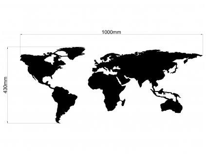 mapa komplet 1000mm Model