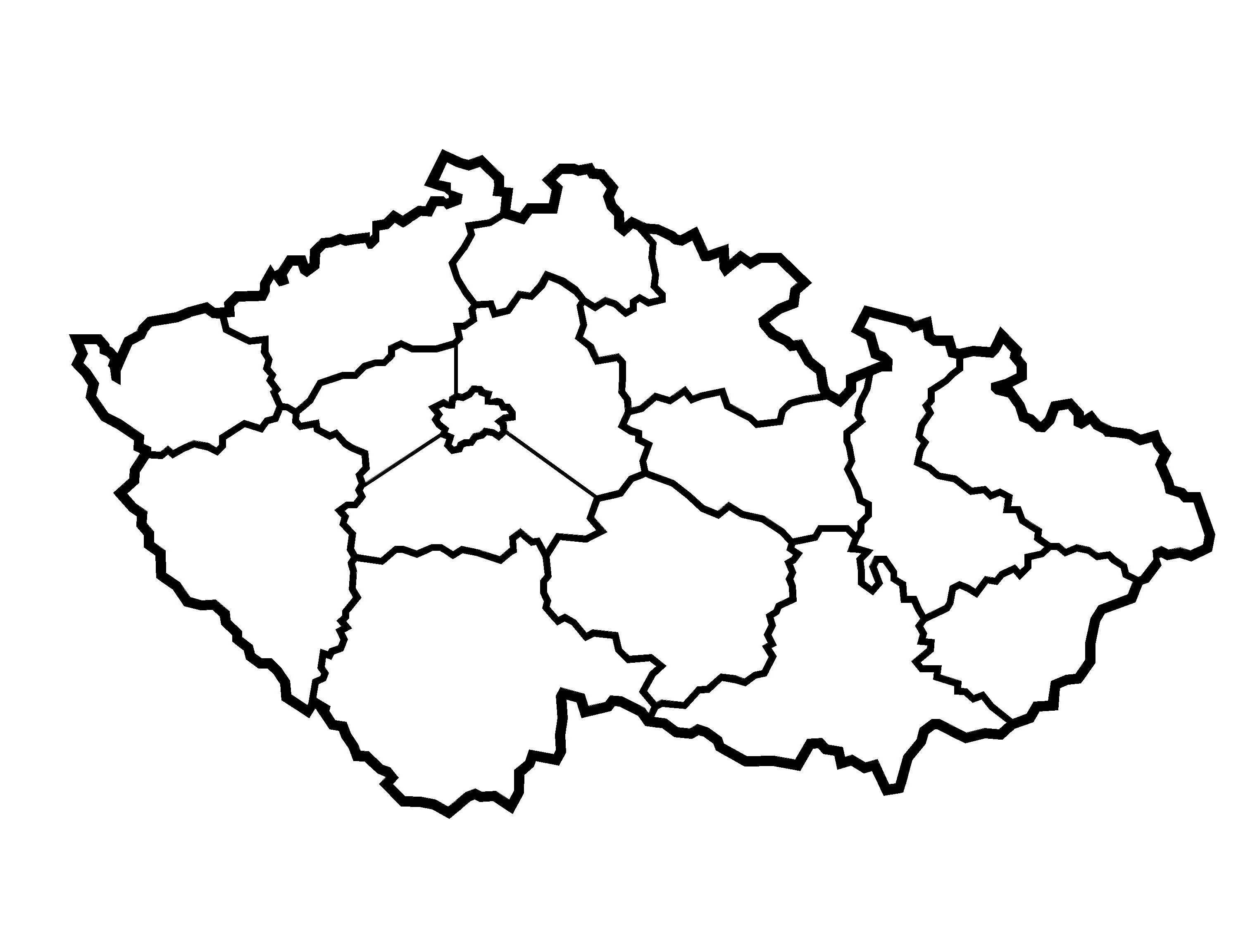 Nástěnná dekorace mapa Česká republika-kraje