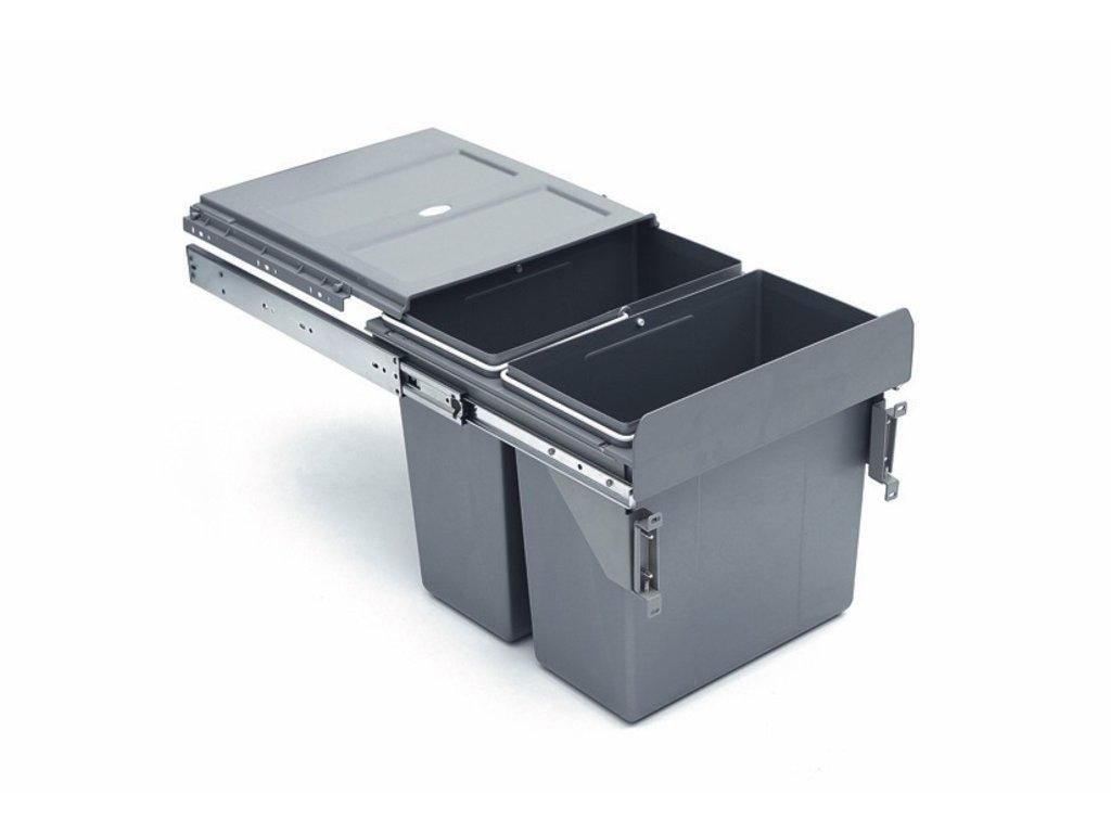 3192 vysuvny odpadkovy 2 kos 2x16 l k40 sedy plast