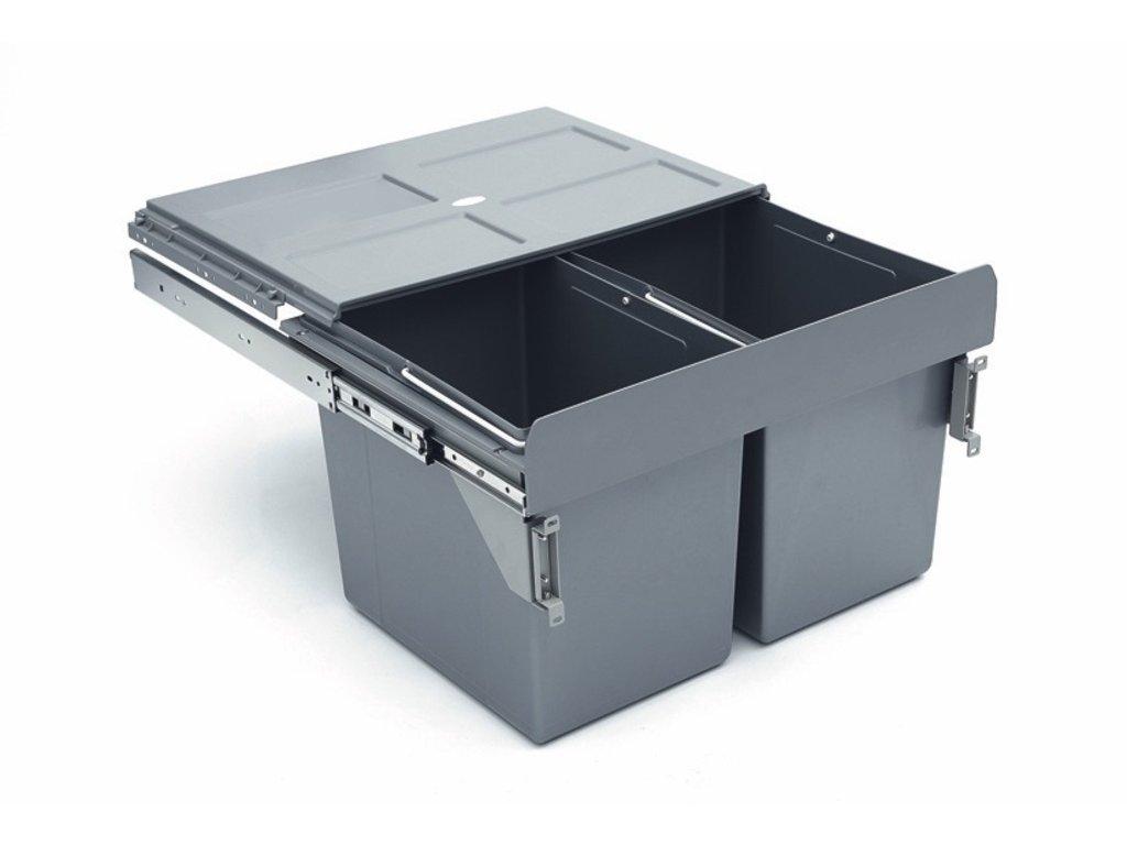 3195 vysuvny odpadkovy 2 kos 2x27 l k60 sedy plast