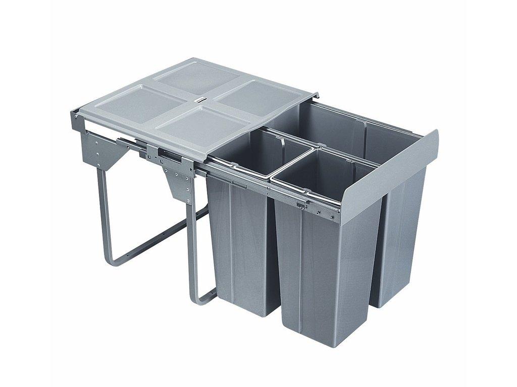 3210 vysuvny odpadkovy 3 kos komfort montazny set pre uchyt dvierok 1x34l 2x17l