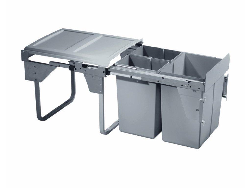 3213 vysuvny odpadkovy 3 kos komfort s uchytky dvierok 1x20 l 2x10 l
