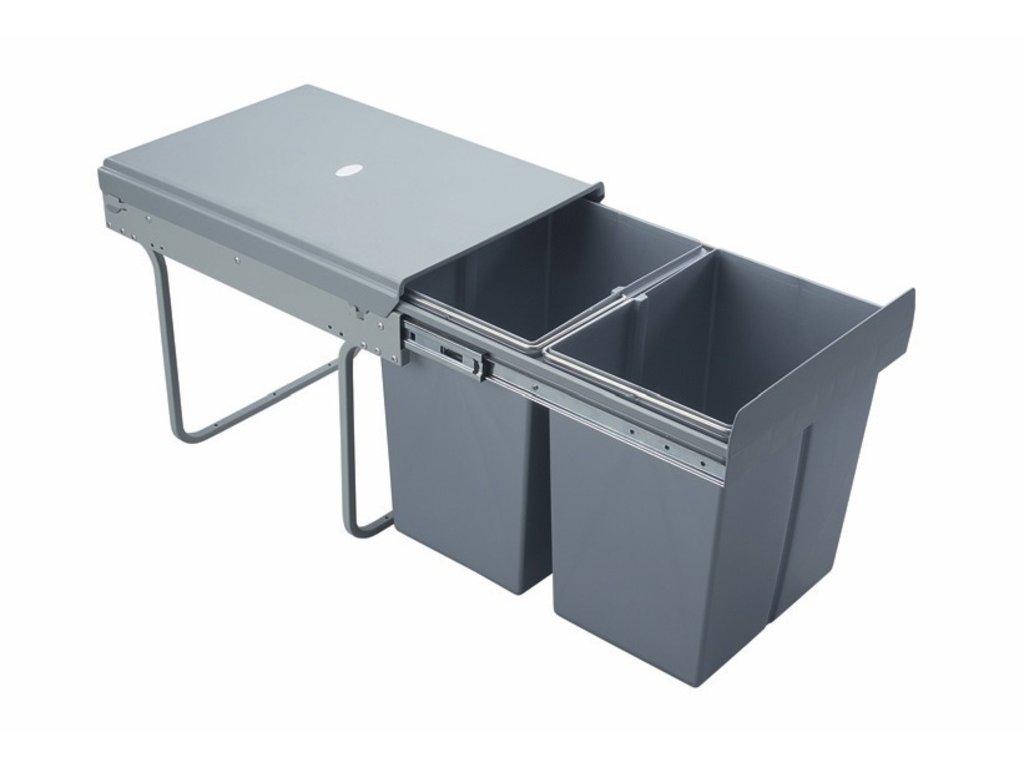 7106 vysuvny odpadkovy 2 kos 2x20 l k40 sedy plast