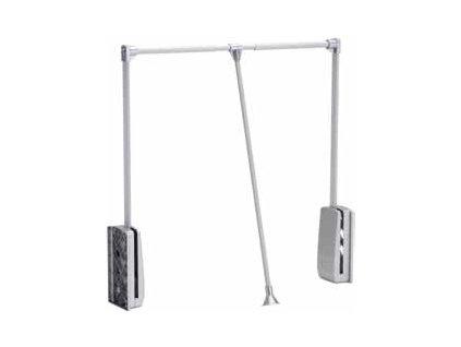 Strong sklopná šatník.tyč 69-92cm strieborná/alu