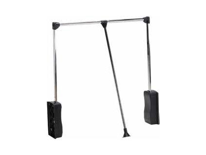Strong sklopná šatník. tyč 69-92cm čierna/chróm