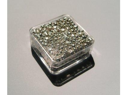 Stříbro granulové 99,9%, 100g v obalu jako cihlička