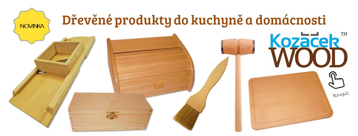 Kozáček WOOD, dřevo výrobky, kuchyně a domácnost, struhadlo, prkénko, podnos, obracečka, palička na maso, chlebovka, držák, polička, vál na těsto