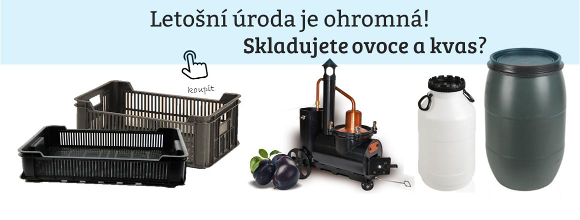 Skladování ovoce a kvasu, bečka, sud, přepravka, barel