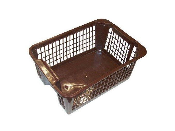 Košík PH 36x26x14,5cm stohovatelný  MINI hnědá  CZ