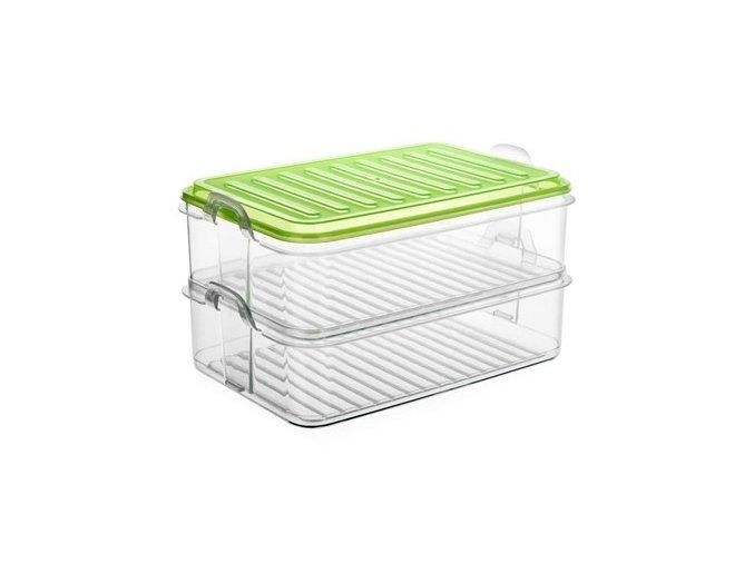 Box úložný EASY CLICK 2 patra 23x15,5x12,5cm, mix barev